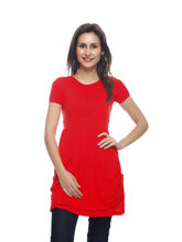 And You Red Cotton Beautiful Dress for Women, m