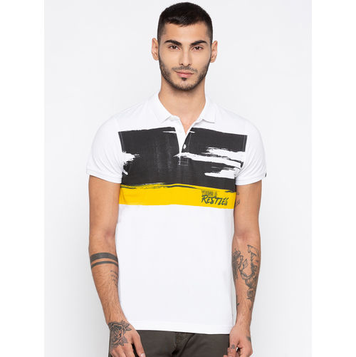 Spykar Prints Slim Fit T-Shirts