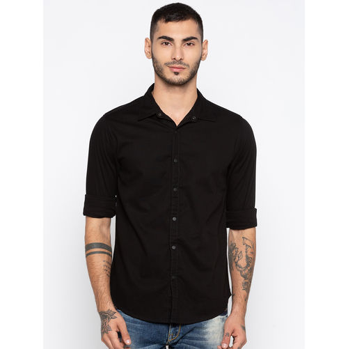 Spykar Solids Slim Fit Shirts