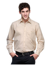 Harvest Cream 100% Cotton Slim Fit Shirt For Men, 44