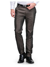 Harvest Brown Poly-Viscose Trouser For Men, 32