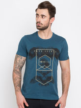 Spykar Prints Slim Fit T-Shirts, xl, olive
