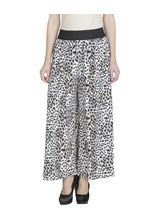 American-Elm Black Printed Palazzo For Women, m
