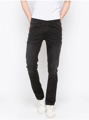 Spykar Low Rise Slim Thigh Tapered Leg Jeans,  carbon black, 32
