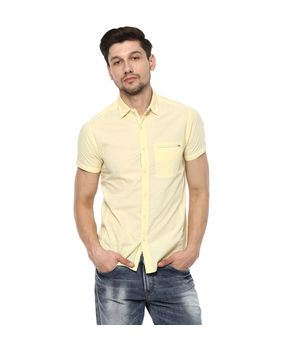 Solid Cut Away Shirt, 2xl,  butter yellow