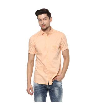 Solid Regular Shirt, l,  peach