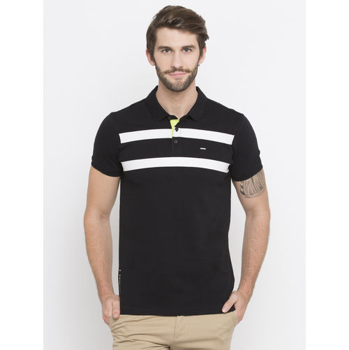 Spykar Stripes Slim Fit T-Shirts