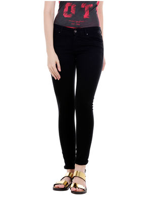 Low Rise Skinny Fit Jeans, 26,  black