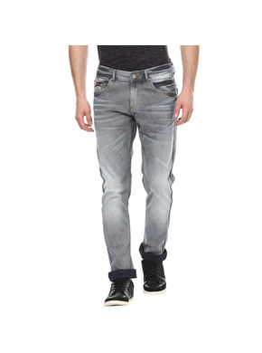 Low Rise Tight Fit Jeans, 36,  grey
