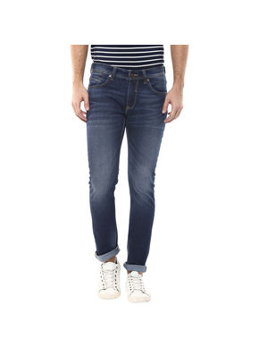 Skinny Low Rise Narrow Fit Jeans, 38,  dark blue