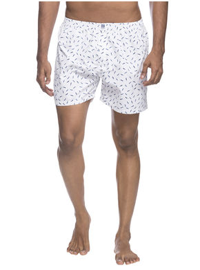 Boxers Shorts,  navy/white, s