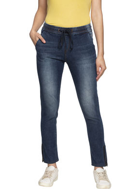 Spykar Mid Rise Skinny Ankle Length Jeans,  mid blue, m
