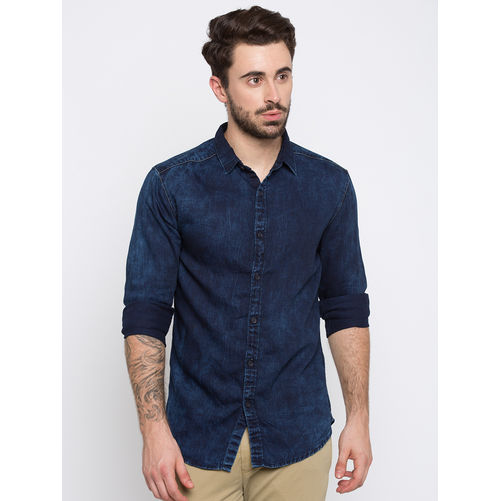 Spykar Faded Slim Fit Shirts
