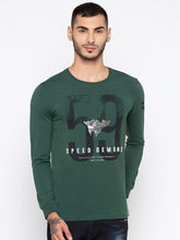 Spykar Solid Slim Fit T-Shirts, m, green