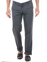 Harvest Grey 100% Cotton Trouser For Men, 34