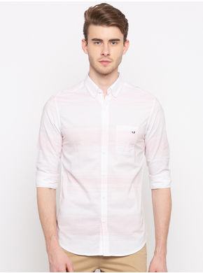 Spykar Regular Slim Fit Shirts,  pink, xl