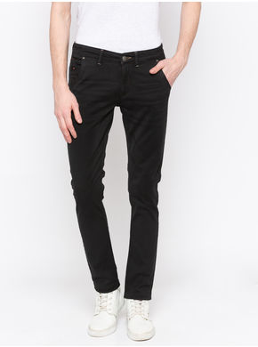 Spykar Low Rise Ultra Slim Thigh Narrow Leg Jeans,  black, 30