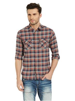 Checks Regular Slim Fit Shirt, m,  pink