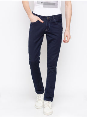 Spykar Low Rise Ultra Slim Thigh Narrow Leg Jeans,  blue raw, 36