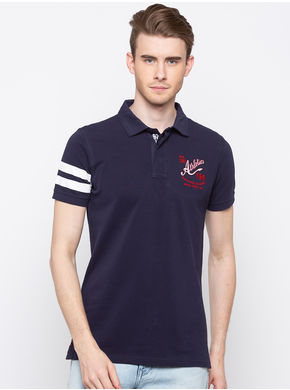 Spykar Polo Slim Fit T-Shirts,  navy, xl