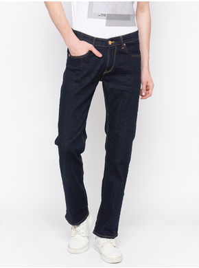 Spykar Low Rise Slim Thigh Tapered Leg Jeans,  blue raw, 30