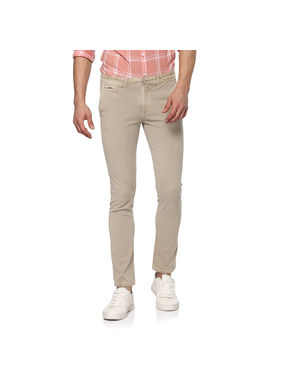 Solid Trousers,  beige, 34