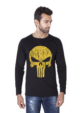 Veirdo Round Neck Full Sleeve T-Shirt (TSH_ 02_ SKULL), m, black