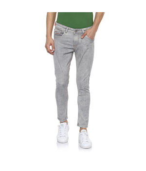 low rise narrow fit jeans, 30,  grey