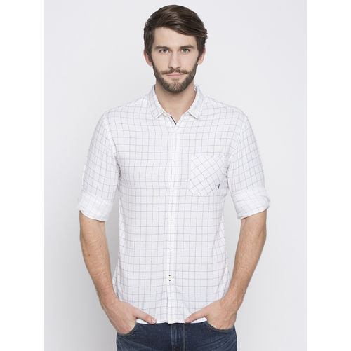 Spykar Checks Slim Fit Shirts