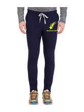 American-Elm Men's Navy Blue-Yellow Star Printed Track Jogger, xxl