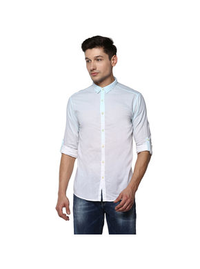 Cut Away Regular Shirt,  sky blue, 2xl