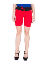 American-Elm Cotton Hot Shorts- Red, m