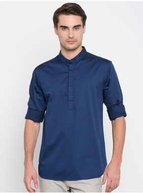 Spykar Solid Slim Fit Shirts, m,  ink
