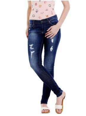 Low Rise Super Skinny Fit Jeans, 28,  blue