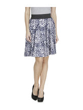 American-Elm Women'S Blue Printed Skirt, m