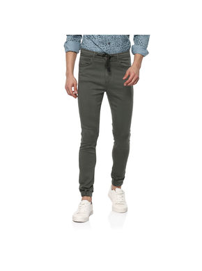Solid Trousers,  grey, 36
