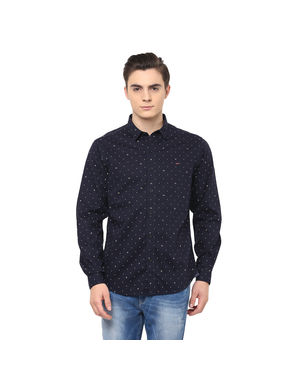 Printed Regular Shirt,  navy, s