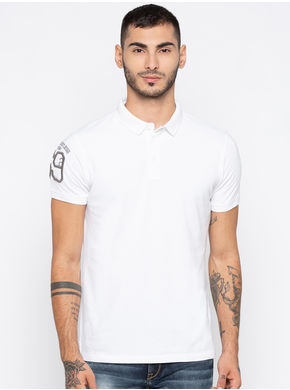 Spykar Dyed Slim Fit T-Shirts, xl,  white