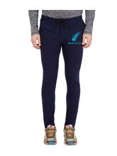 American-Elm Men's Navy-Sky Star Printed Trackpant, xl