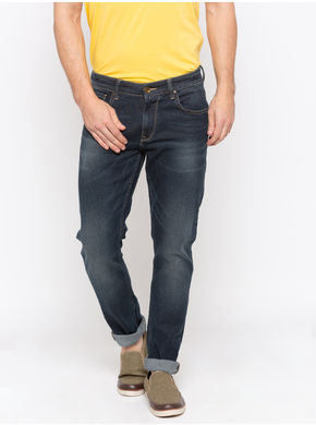 Spykar Low Rise Slim Thigh Tapered Leg Jeans,  blue raw, 36