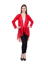 American-Elm Women's Red Net Shrug, xl