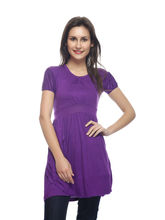 And You Purple Cotton Beautiful Dress for Women, m