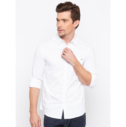 Spykar Regular Collar Slim Fit Shirts