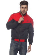 DS Polyester Regular Fit Jacket for Men (LU-JACK-58), red and black, 46