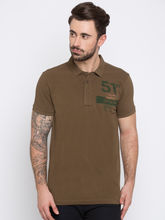 Solid Slim Polo T-Shirts, xl, olive