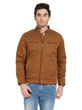 Solid Jacket In Relax Fit, dark khaki, m