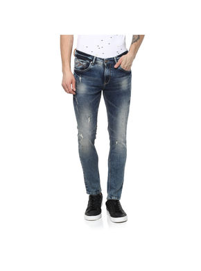 low rise narrow fit jeans, 34,  tinted