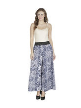 American-Elm Women'S Blue Printed Palazzo, l