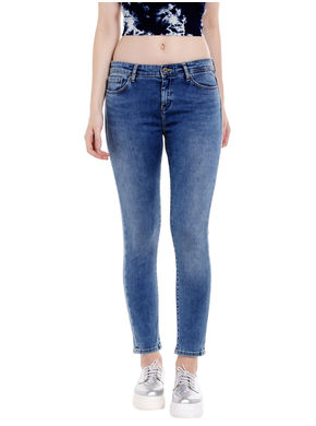 Mid Rise Skinny Fit Jeans, 32,  blue