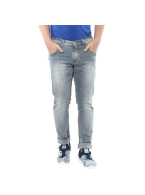 Low Rise Narrow Fit Jeans, 28,  grey